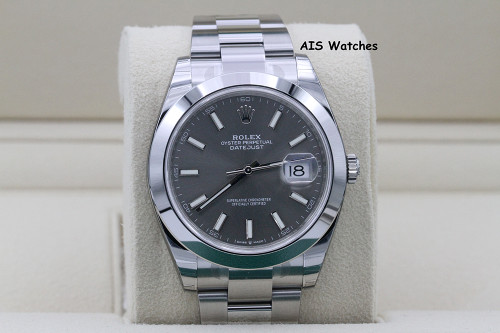 BNIB Rolex Datejust 41MM 126300 Rhodium Dial Oyster Bracelet B&P - SEALED