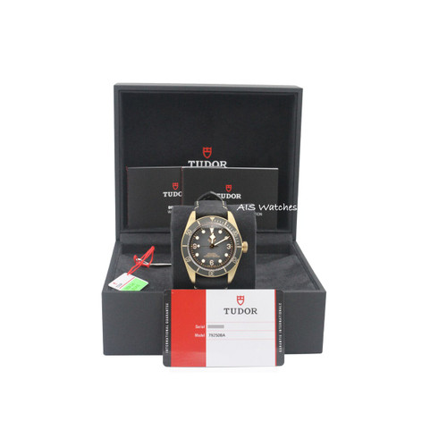 BNIB Tudor 79250BA Black Bay Bronze Black Leather Strap 43MM Box & Papers