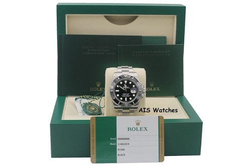 Rolex Submariner Ceramic Date 116610LN Random Serial Box &Paper