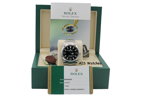 Rolex Explorer 214270 39MM MK1 Dial Random Serial Box & Papers