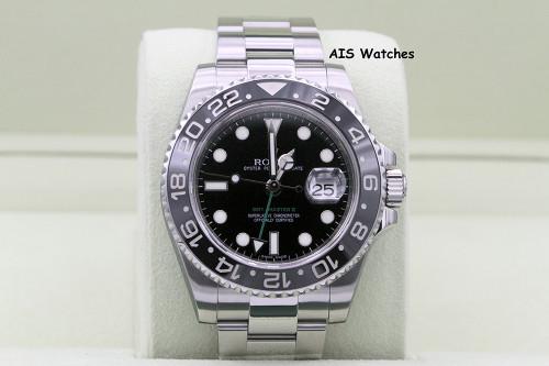 Rolex 116710LN GMT Master II Black Ceramic Insert