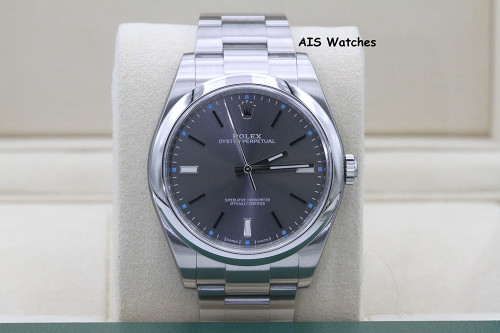 Rolex 114300 Oyster Perpetual 39 MM Rhodium Dial Box & Papers