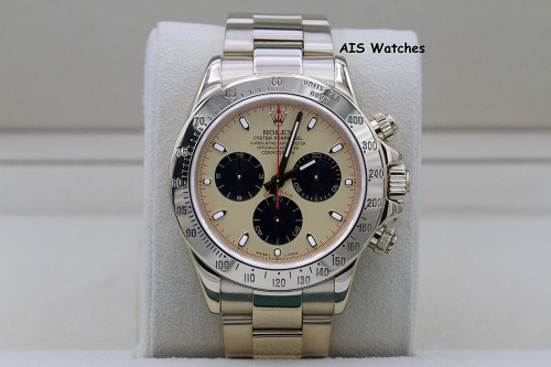 Rolex Daytona 116528 Yellow Gold Champagne Dial Paul Newman Z Serial Box&Papers