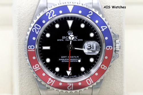 Rolex 16700 GMT Master T Serial Pepsi Insert Tritium Dial - Serviced