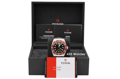 Tudor 79230R Heritage Black Bay Red Stainless Steel Box & Papers