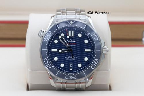 BNIB Omega Seamaster 300M SS 42MM Diver Blue Wave Dial 210.30.42.20.03.001 B&P