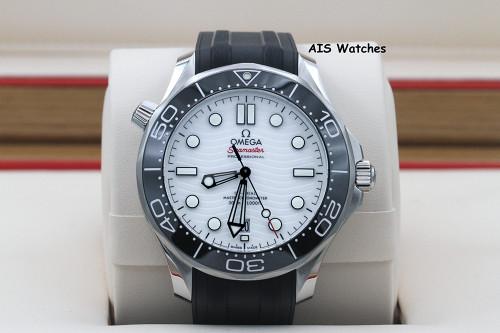 BNIB Omega Seamaster 300M 42MM Diver White Wave Dial 210.32.42.20.04.001 B&P