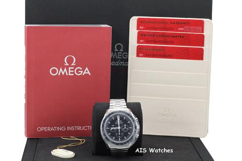 BNIB Omega SpeedMaster 3861 Moon Watch 310.30.42.50.01.002 Sapphire Sandwich