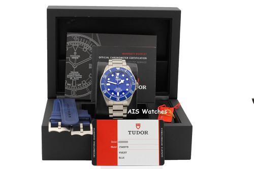 Tudor Pelagos 25600TB Blue Dial Titanium Complete Set - IN HOUSE MOVEMENT