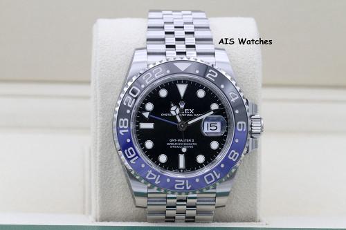 BNIB Rolex GMT Master II 126710 BLNR Black Blue Batgirl / Batman Ceramic Bezel