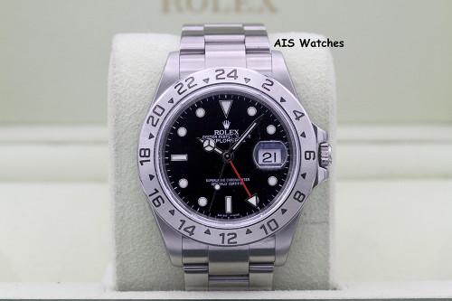 Rolex Explorer II 16570 M Serial Black Dial 3186 Movement
