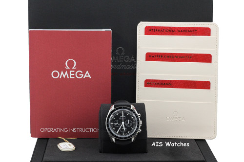 BNIB Omega SpeedMaster 3861 MoonWatch 310.32.42.50.01.002 Sapphire Sandwich