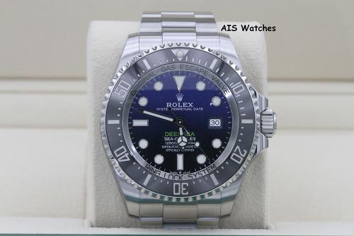 Rolex 126660 Deep Sea SeaDweller D-Blue James Cameron Edition Box & Papers