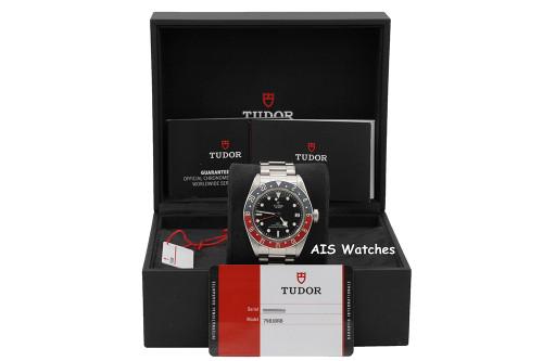 Tudor 79830RB Black Bay GMT Pepsi Stainless Steel Bracelet B&P