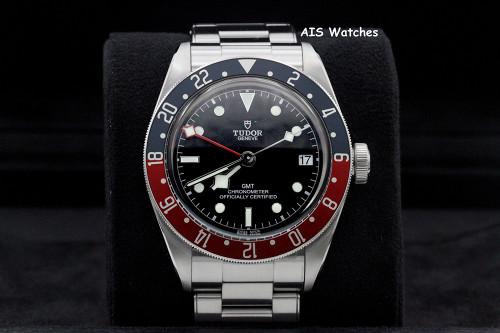 Tudor 79830RB Black Bay GMT Pepsi Stainless Steel Bracelet