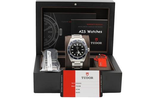 Tudor 79220B Heritage Black Bay Blue Stainless Steel Bracelet Box & Papers