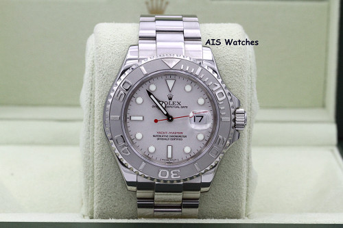 Rolex YachtMaster 16622 Platinum Dial Box & Papers