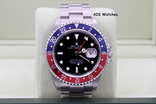 Rolex GMT Master II 16710 Z Serial Pepsi Insert Box & Papers