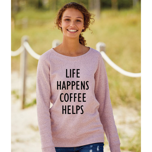 Cameo Pink Life Happens Coffee Helps