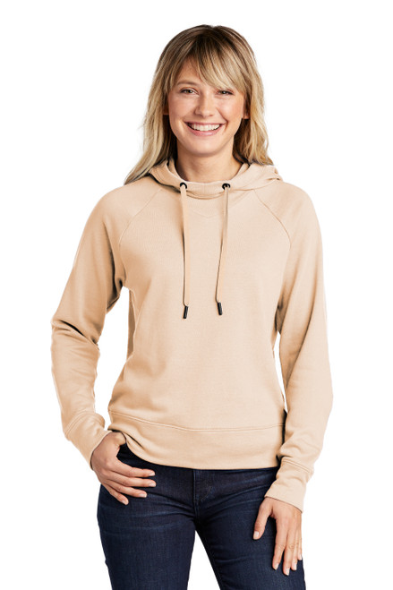 Ecru Sport-Tek Ladies Lightweight French Terry Pullover Hoodie