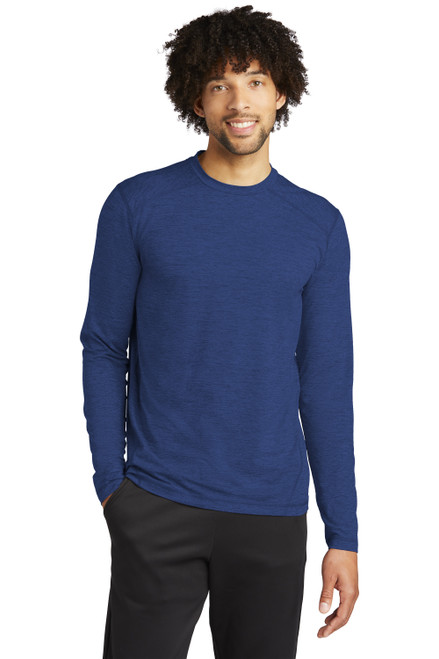 True Royal Heather Sport-Tek Exchange 1.5 Long Sleeve Crew