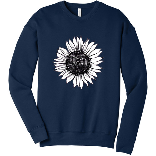 Navy Sunflower Sweatshirt