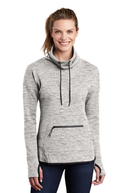 Athletic Heather Sport-Tek Ladies Triumph Cowl Neck Pullover