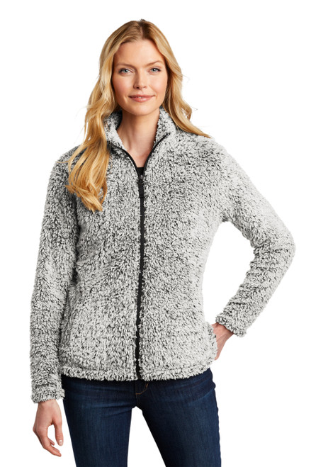 Grey Heather Port Authority Ladies Cozy Fleece Jacket