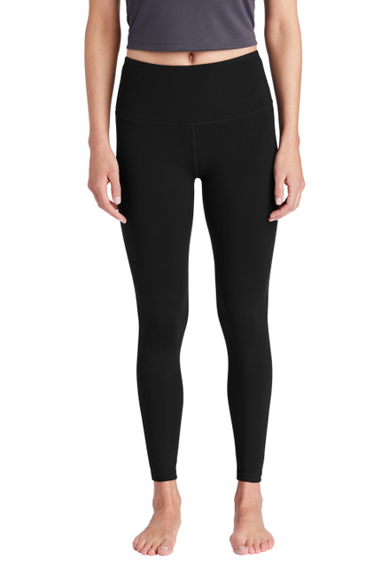 Black Sport-Tek® Ladies High Rise 7/8 Legging