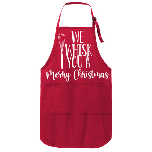 Red Whisk You A Merry Christmas Apron