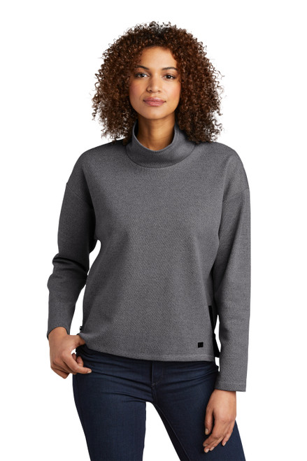 Blacktop Heather OGIO® Ladies Transition Pullover