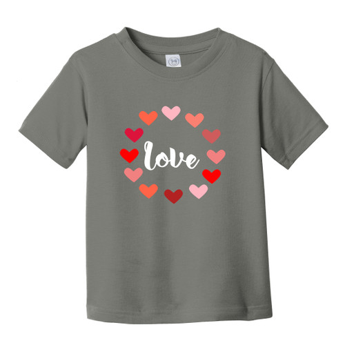Charcoal Love Heart Toddler Tee