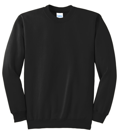 Jet Black Port & Company Essential Fleece Crewneck Sweatshirt