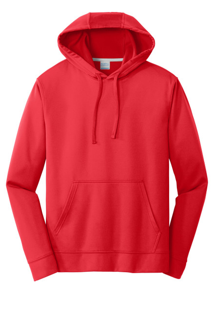 Red Port & Company Performance Fleece Pullover Hooded Sweatshirt