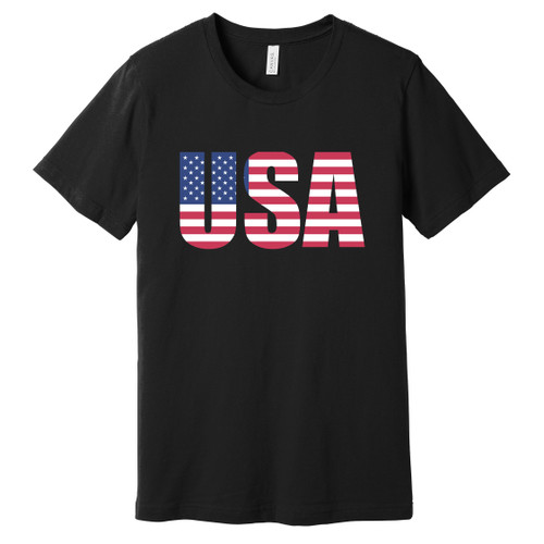 USA Flag Letters Tee
