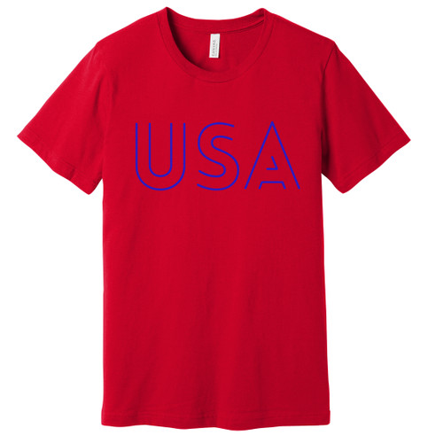 USA Blue Outline Tee