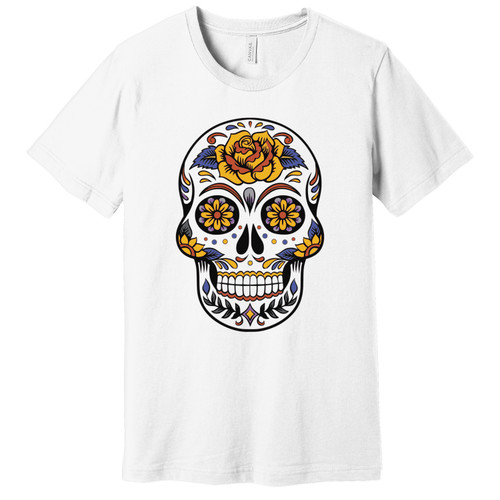 Day of the Dead Tee Yellow Flowers