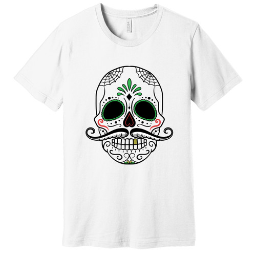 Day of the Dead Mustache Tee