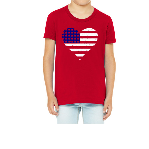 American Flag Heart Youth