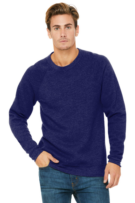 Navy Bella Canvas Unisex Sponge Fleece Raglan Sweatshirt