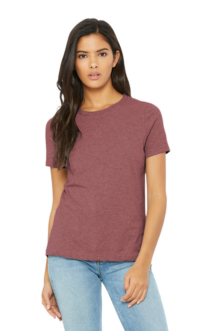 Heather Mauve Bella Canvas Women's Relaxed Jersey Short Sleeve Tee