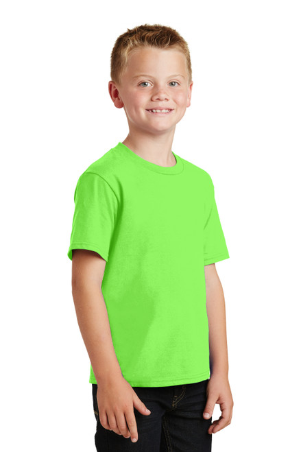 Flash Green Port & Company Youth Fan Favorite Tee