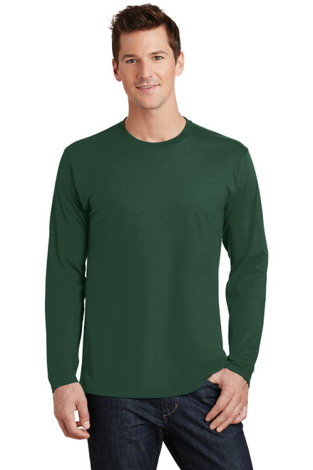 Forest Green Port & Company Long Sleeve Fan Favorite Tee