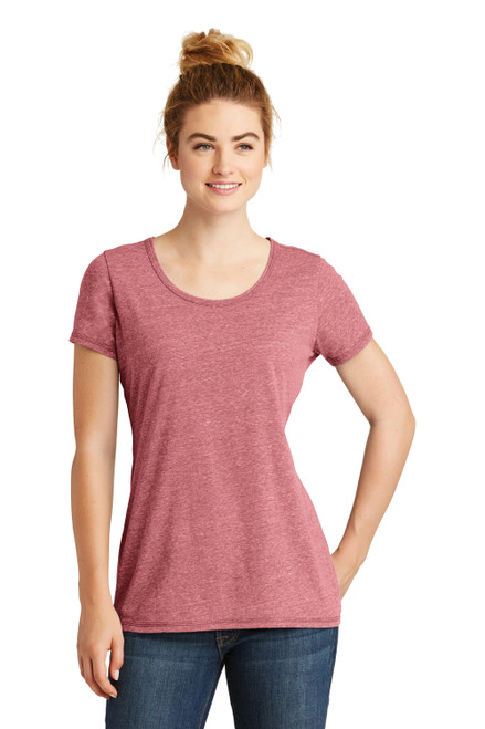 Crimson New Era Ladies Tri-Blend Performance Scoop Tee