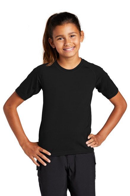 Black Sport-Tek Youth Rashguard Tee