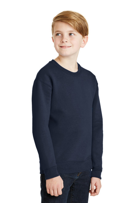 Navy JERZEES Youth NuBlend Crewneck Sweatshirt