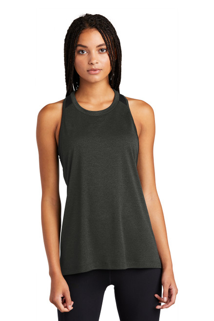 Black Heather/Black Sport-Tek Ladies Endeavor Tank