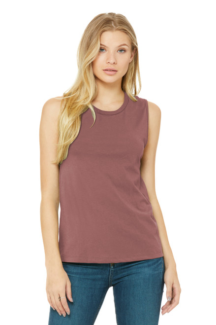 Mauve Bella Canvas Women's Jersey Muscle Tank