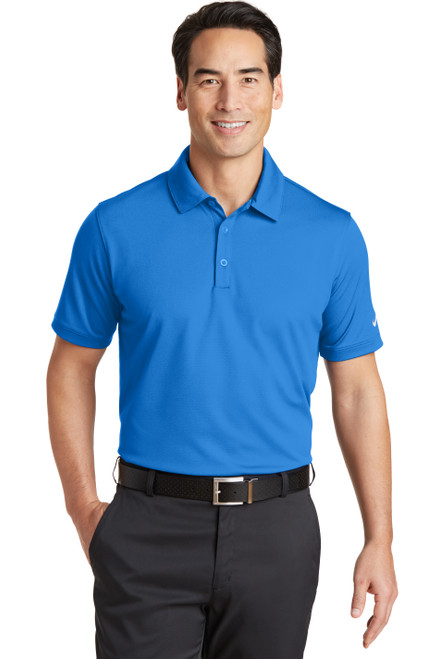 Light Photo Blue Nike Dri-FIT Solid Icon Pique Modern Fit Polo