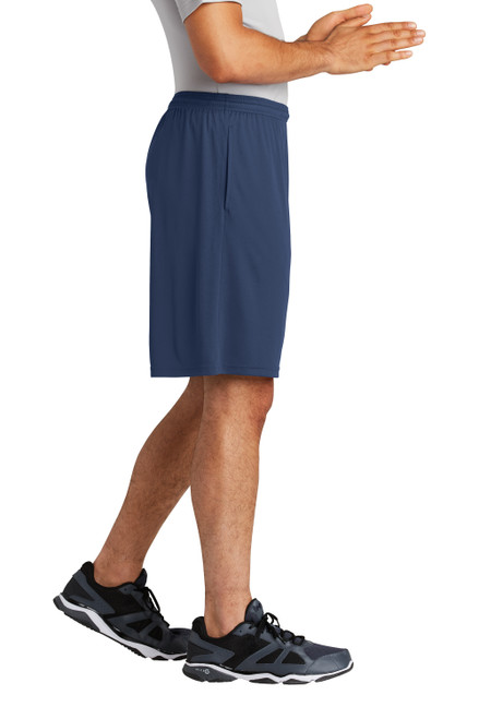True Navy Sport-Tek PosiCharge Competitor Pocketed Short